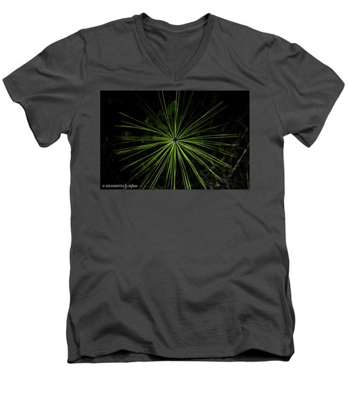Pyrotechnics Or Pine Needles Men's V-Neck T-Shirt by Stefanie Silva
