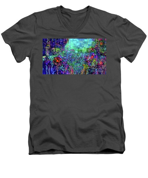 Men's V-Neck T-Shirt featuring the digital art Qualia's Reef by Russell Kightley