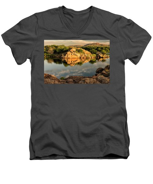 Quanah Parker Lake Men's V-Neck T-Shirt