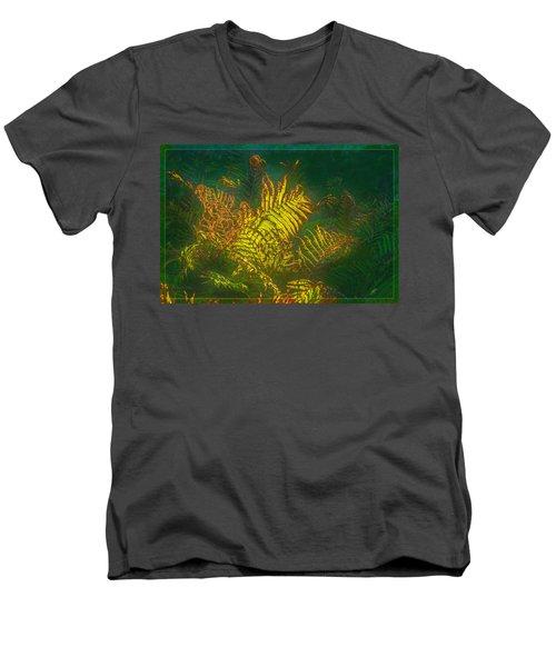 Quantum Fern.... Men's V-Neck T-Shirt