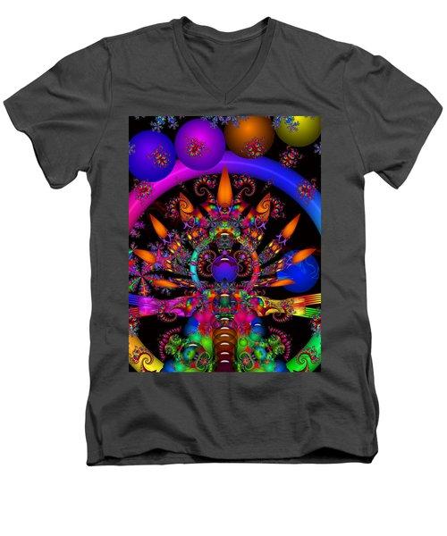 Men's V-Neck T-Shirt featuring the digital art Quantum Physics by Robert Orinski