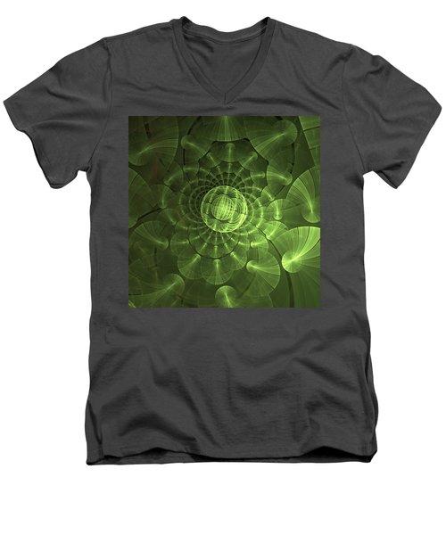 Men's V-Neck T-Shirt featuring the digital art Quantum Plasma Signature by Lea Wiggins