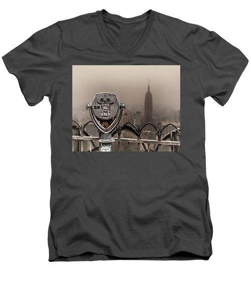 Men's V-Neck T-Shirt featuring the photograph Quarters Only by Chris Lord