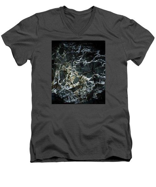 Quartz Veins Abstract 1 Men's V-Neck T-Shirt by Richard Brookes