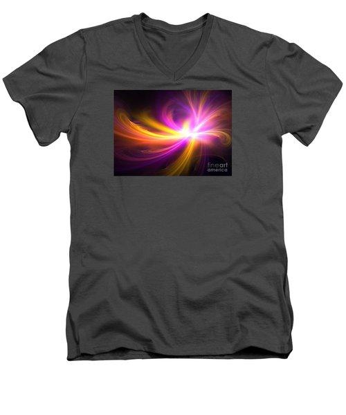 Quasi-stellar Men's V-Neck T-Shirt by Kim Sy Ok