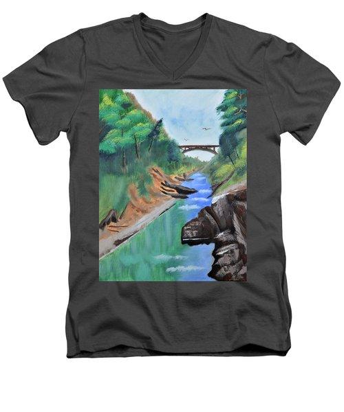 Quechee Gorge,vermont Men's V-Neck T-Shirt