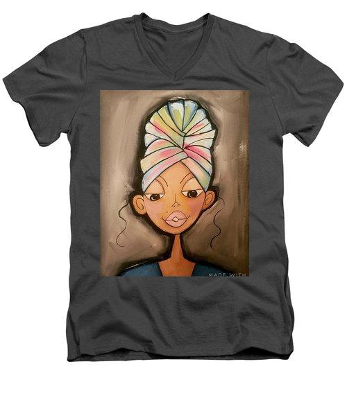 Queen Men's V-Neck T-Shirt