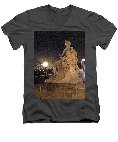 Queen Of Art Hill Men's V-Neck T-Shirt by Nancy Kane Chapman