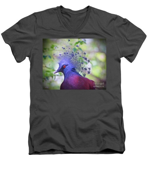 Queen Of The Birds Edition 2 Men's V-Neck T-Shirt by Judy Kay