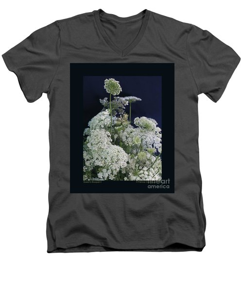Men's V-Neck T-Shirt featuring the photograph Queen's Bouquet-ii by Patricia Overmoyer