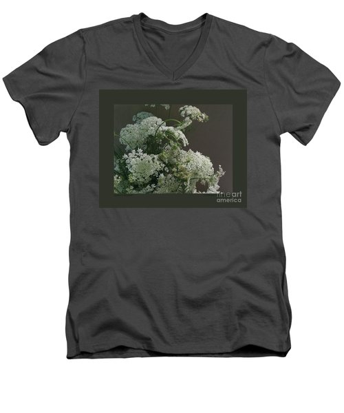 Men's V-Neck T-Shirt featuring the photograph Queen's Bouquet by Patricia Overmoyer