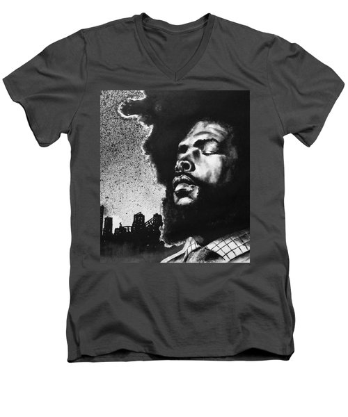Questlove. Men's V-Neck T-Shirt by Darryl Matthews