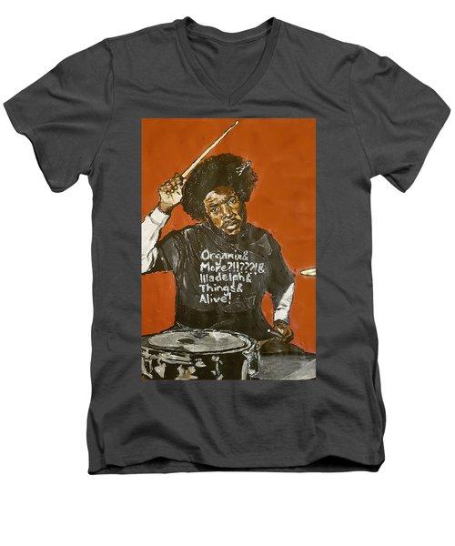 Questlove Men's V-Neck T-Shirt