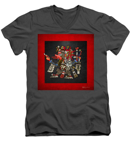 Quetzalcoatl - Codex Borgia Men's V-Neck T-Shirt