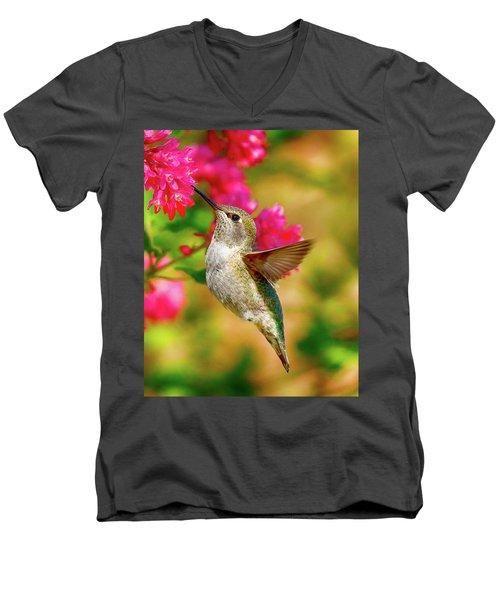 Quick Lunch Men's V-Neck T-Shirt by Sheldon Bilsker