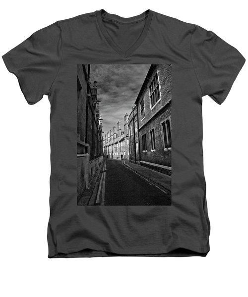 Quiet Alley Cambridge Uk Men's V-Neck T-Shirt