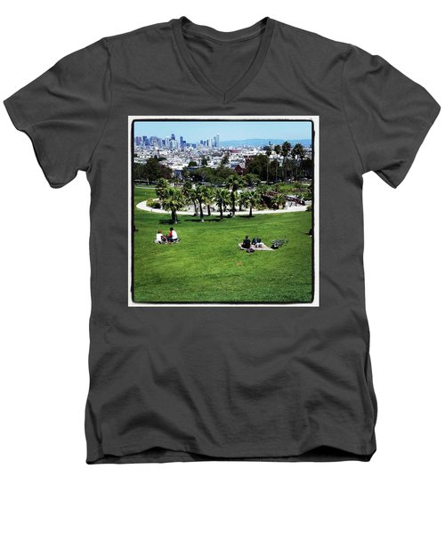 Men's V-Neck T-Shirt featuring the photograph Quiet At #doloresgaybeach by Mr Photojimsf