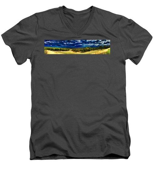 Quiet Before The Storm Men's V-Neck T-Shirt by Douglas Barnard