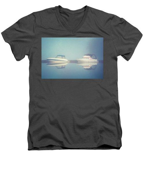 Men's V-Neck T-Shirt featuring the photograph Quiet Morning by Ari Salmela