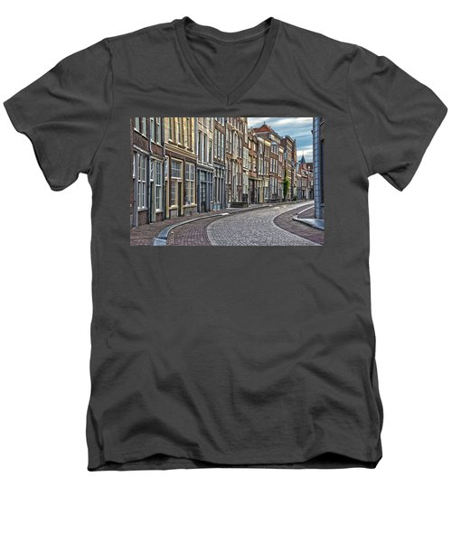 Quiet Street In Dordrecht Men's V-Neck T-Shirt