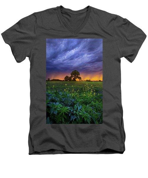 Quietly Drifting By Men's V-Neck T-Shirt by Phil Koch