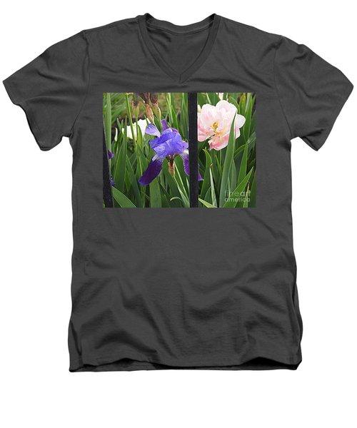 Quite The Pair Men's V-Neck T-Shirt by Nancy Kane Chapman