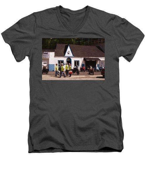 Quitting Time Men's V-Neck T-Shirt