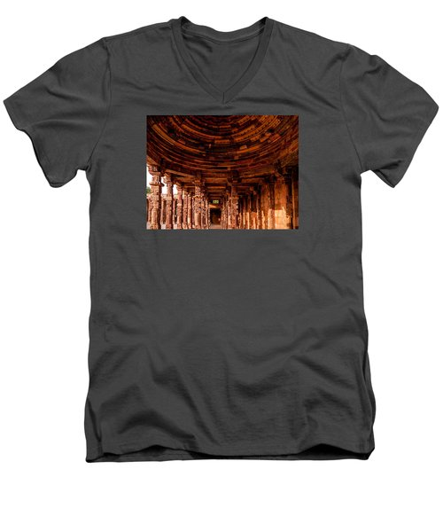 Qutub Minar Men's V-Neck T-Shirt by M G Whittingham