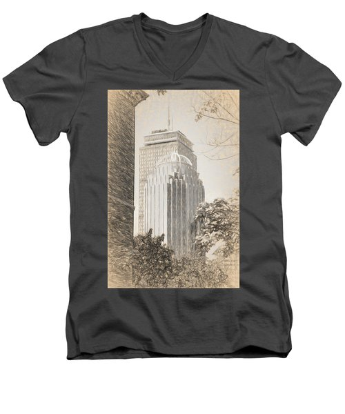 R2d2 Building And The Prudential Center Men's V-Neck T-Shirt