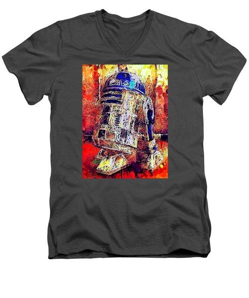 R2 - D2 Men's V-Neck T-Shirt