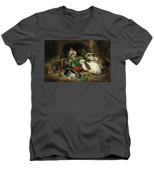 Rabbits Men's V-Neck T-Shirt