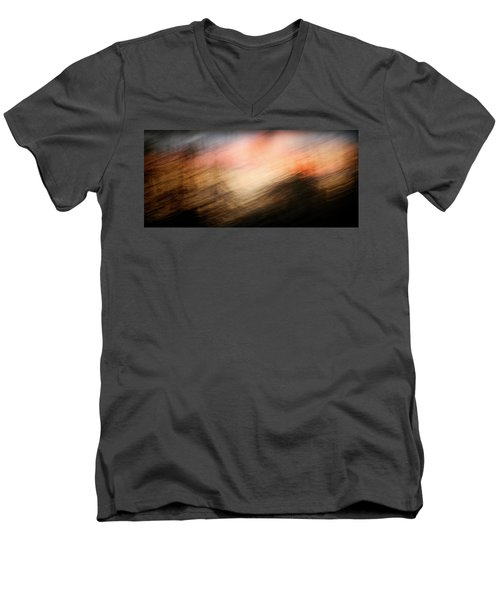 Men's V-Neck T-Shirt featuring the photograph Race You To The Top by Marilyn Hunt