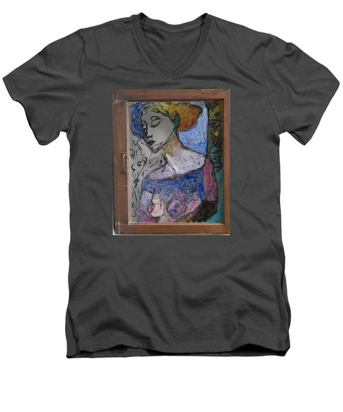 Rachel In Reverse Men's V-Neck T-Shirt