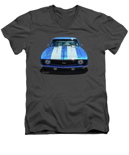 Racing Stripes Men's V-Neck T-Shirt