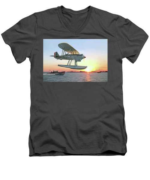 Racing The Sun Men's V-Neck T-Shirt