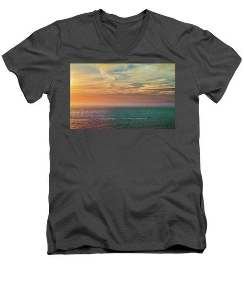 Racing The Sunrise Men's V-Neck T-Shirt