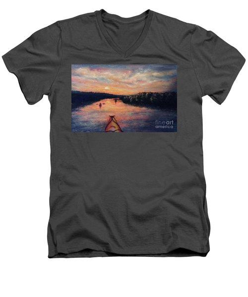 Racing The Sunset Men's V-Neck T-Shirt