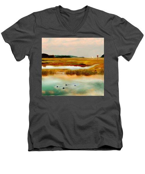 Racing The Tide Men's V-Neck T-Shirt