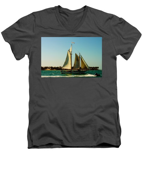 Racing The Wind Men's V-Neck T-Shirt
