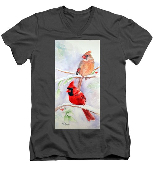 Radiance Of Cardinals Men's V-Neck T-Shirt