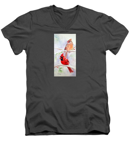 Radiance Of Cardinals Men's V-Neck T-Shirt