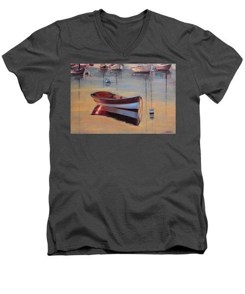 Radiant White Men's V-Neck T-Shirt by Trina Teele