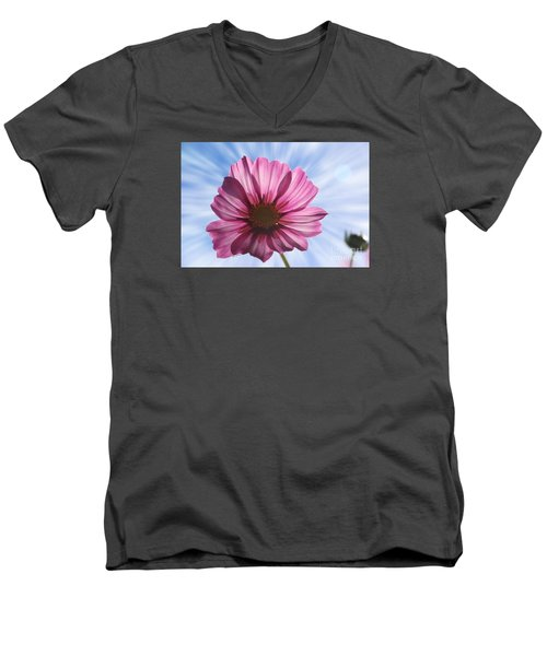 Men's V-Neck T-Shirt featuring the photograph Radiant Cosmos by Yumi Johnson
