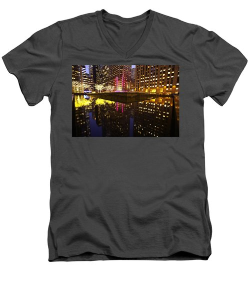 Radio City Reflection Men's V-Neck T-Shirt