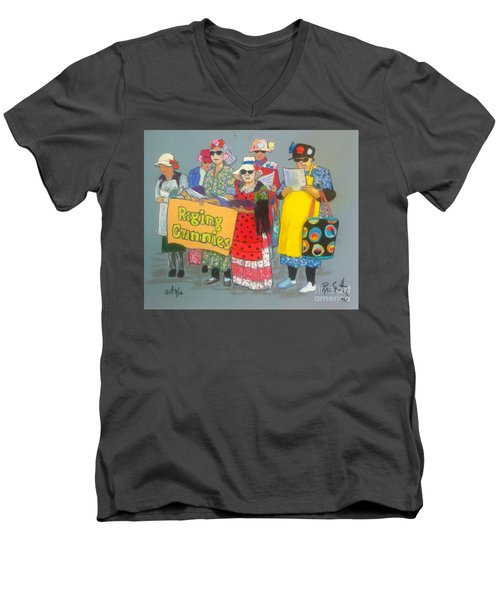 Raging Grannies  Men's V-Neck T-Shirt