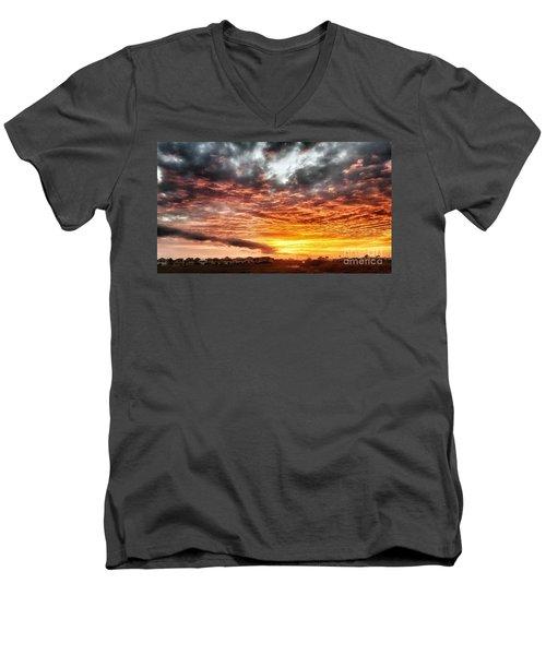 Raging Sunset Men's V-Neck T-Shirt