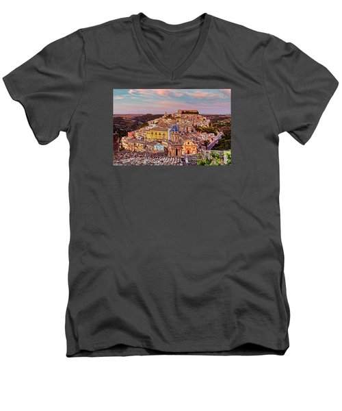 Ragusa Ilba Men's V-Neck T-Shirt by Robert Charity