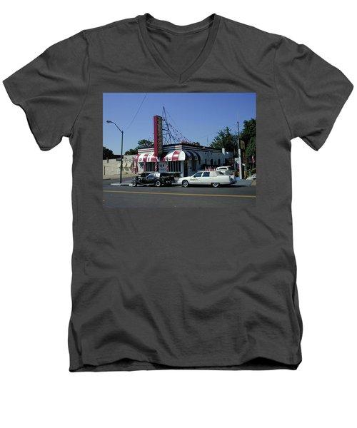 Men's V-Neck T-Shirt featuring the photograph Raifords Disco Memphis A by Mark Czerniec