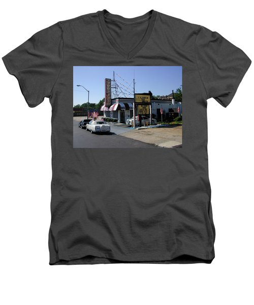 Men's V-Neck T-Shirt featuring the photograph Raifords Disco Memphis B by Mark Czerniec