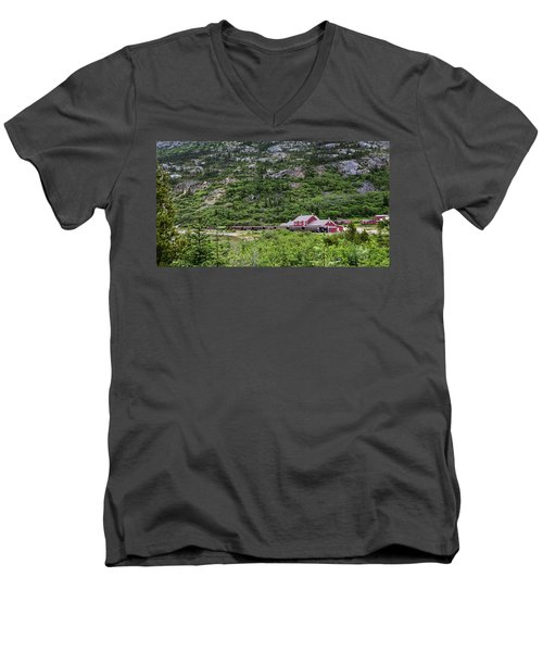 Railroad To The Yukon Men's V-Neck T-Shirt